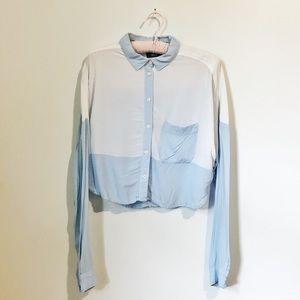 Urban Outfitters   Crop Colour-block Blouse
